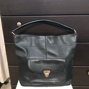 1/12 Banana Republic Hobo Genuine Leather Bag BLK